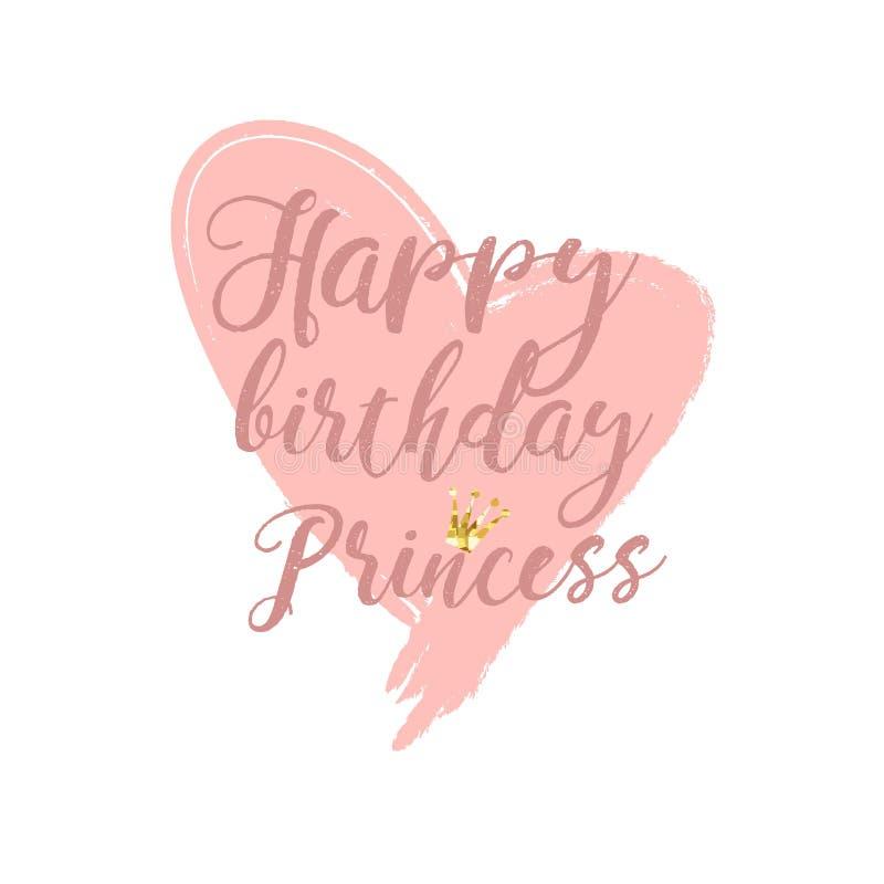 Στοιχεία σχεδίου καρτών γενεθλίων για λίγη πριγκήπισσα, το κορίτσι γοητείας και τη γυναίκα επίσης corel σύρετε το διάνυσμα απεικό ελεύθερη απεικόνιση δικαιώματος