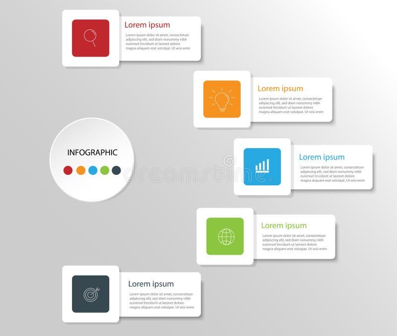 Στοιχεία σύγχρονου σχεδίου για το επιχειρησιακό πολύχρωμο infographics Vec στοκ φωτογραφία με δικαίωμα ελεύθερης χρήσης