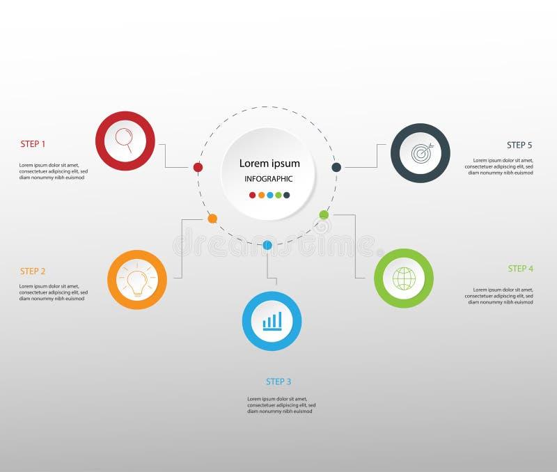 Στοιχεία σύγχρονου σχεδίου για το επιχειρησιακό πολύχρωμο infographics Vec στοκ φωτογραφίες με δικαίωμα ελεύθερης χρήσης