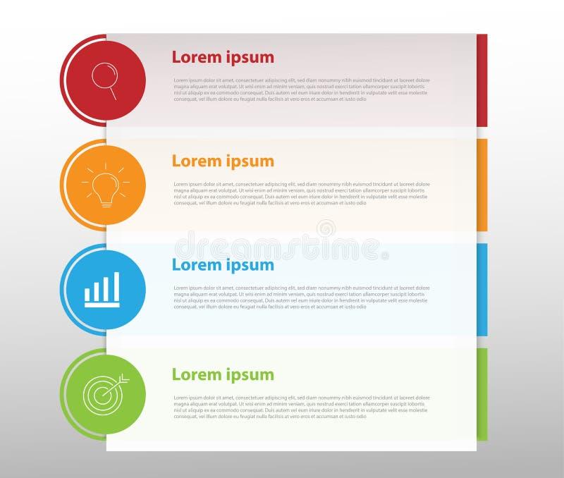 Στοιχεία σύγχρονου σχεδίου για το επιχειρησιακό πολύχρωμο infographics Vec στοκ φωτογραφία