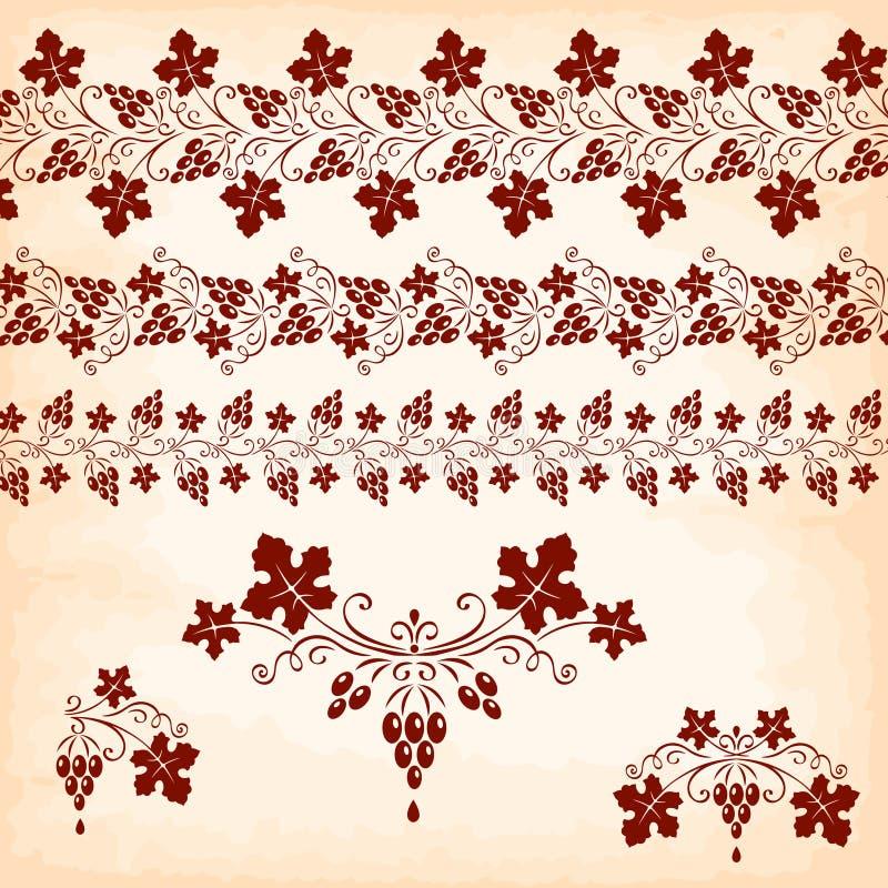 στοιχεία τέσσερα σχεδίου ανασκόπησης snowflakes λευκό Σταφύλια διανυσματική απεικόνιση