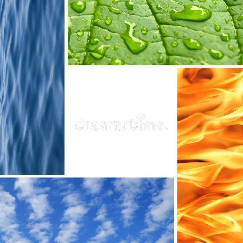 στοιχεία τέσσερα φύση στοκ φωτογραφία με δικαίωμα ελεύθερης χρήσης