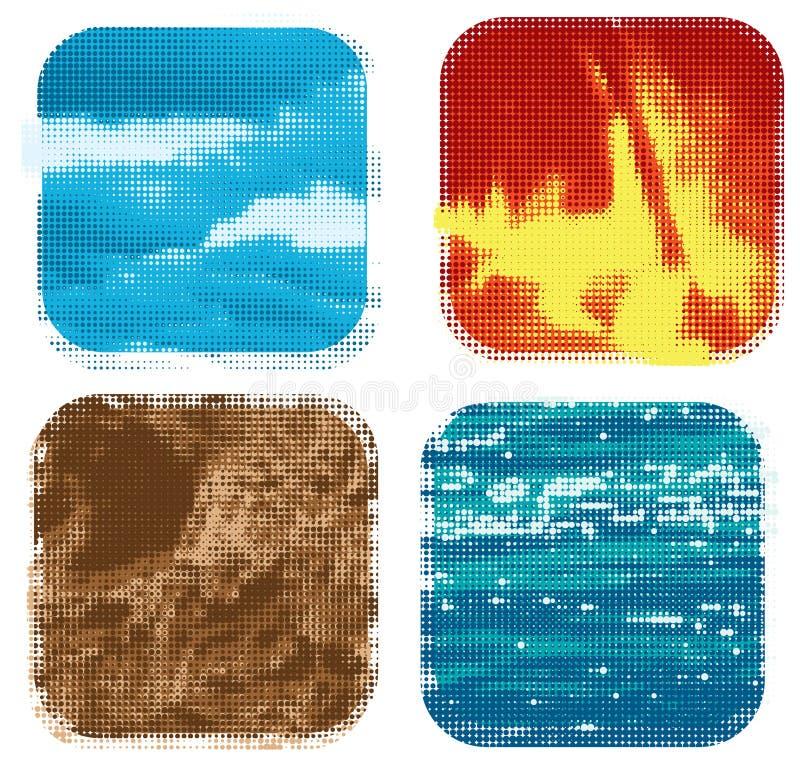 στοιχεία τέσσερα διανυσματική απεικόνιση