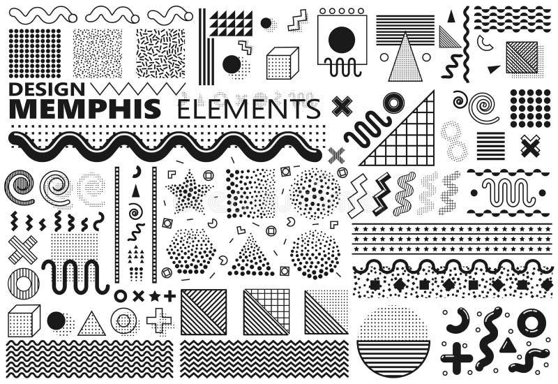 Στοιχεία της Μέμφιδας καθορισμένα διανυσματική απεικόνιση
