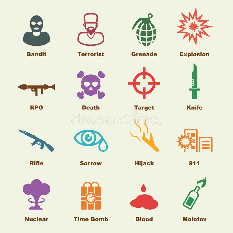Στοιχεία τρομοκρατίας απεικόνιση αποθεμάτων
