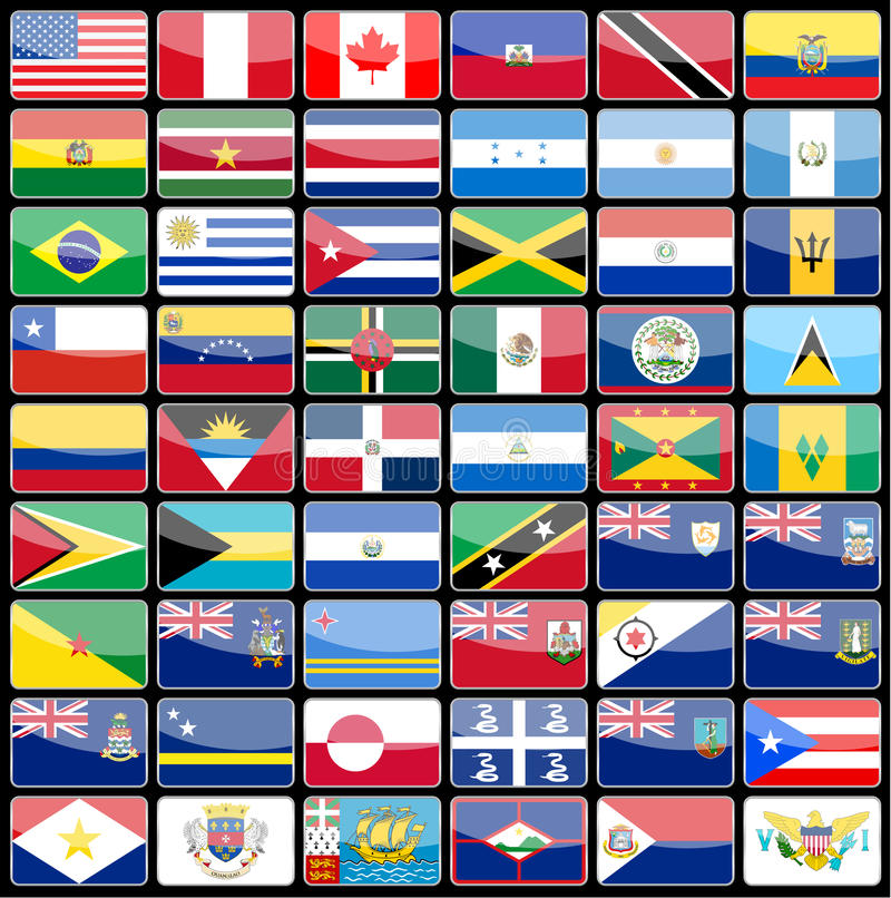 Download Στοιχεία των σημαιών εικονιδίων σχεδίου της ηπείρου της Αμερικής Διανυσματική απεικόνιση - εικονογραφία από διεθνής, εθνικός: 62716357