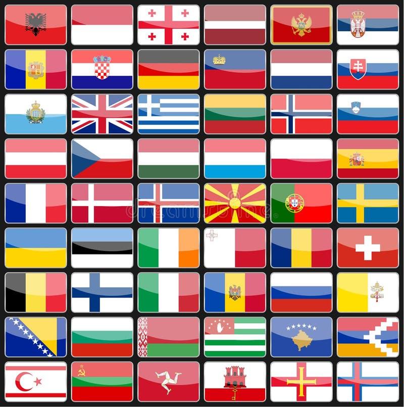 Download Στοιχεία των σημαιών εικονιδίων σχεδίου των χωρών της Ευρώπης Διανυσματική απεικόνιση - εικονογραφία από κουμπί, φινλανδία: 62716360