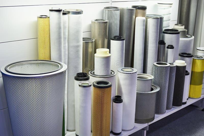Στοιχεία φίλτρων για βιομηχανικό και αέριο ελαίου στοκ εικόνα