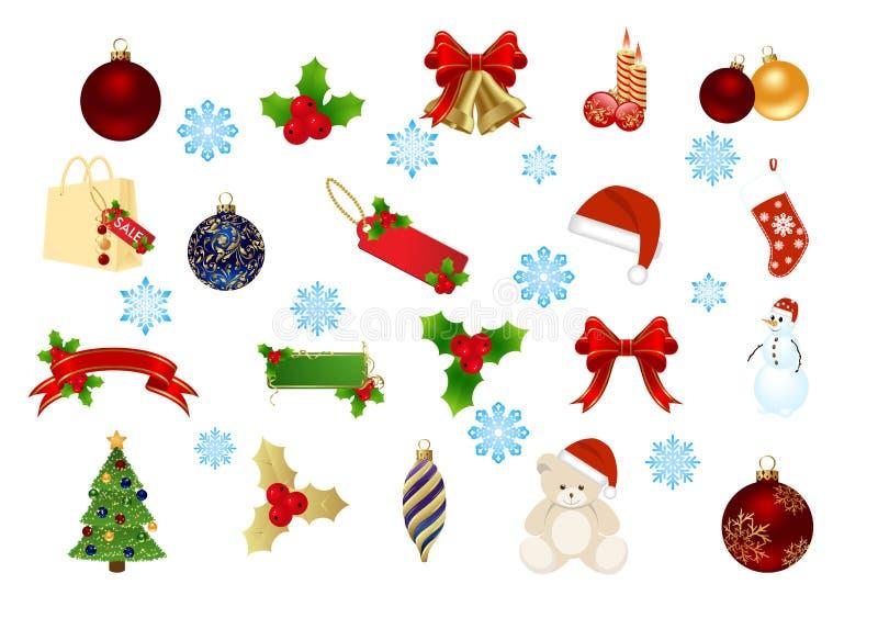 στοιχεία Χριστουγέννων π&o απεικόνιση αποθεμάτων