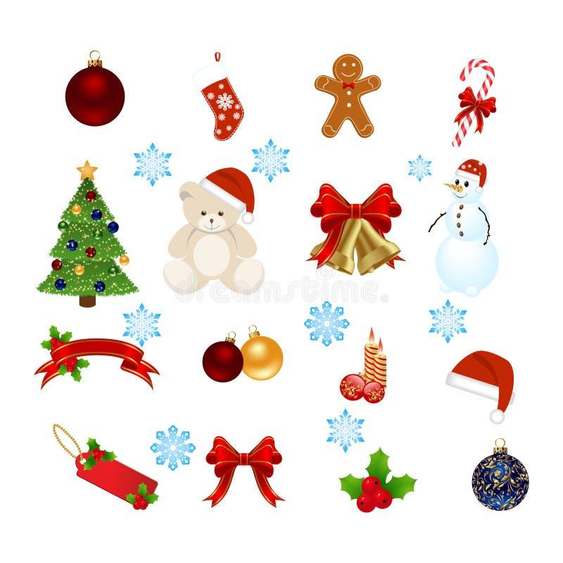 στοιχεία Χριστουγέννων ελεύθερη απεικόνιση δικαιώματος