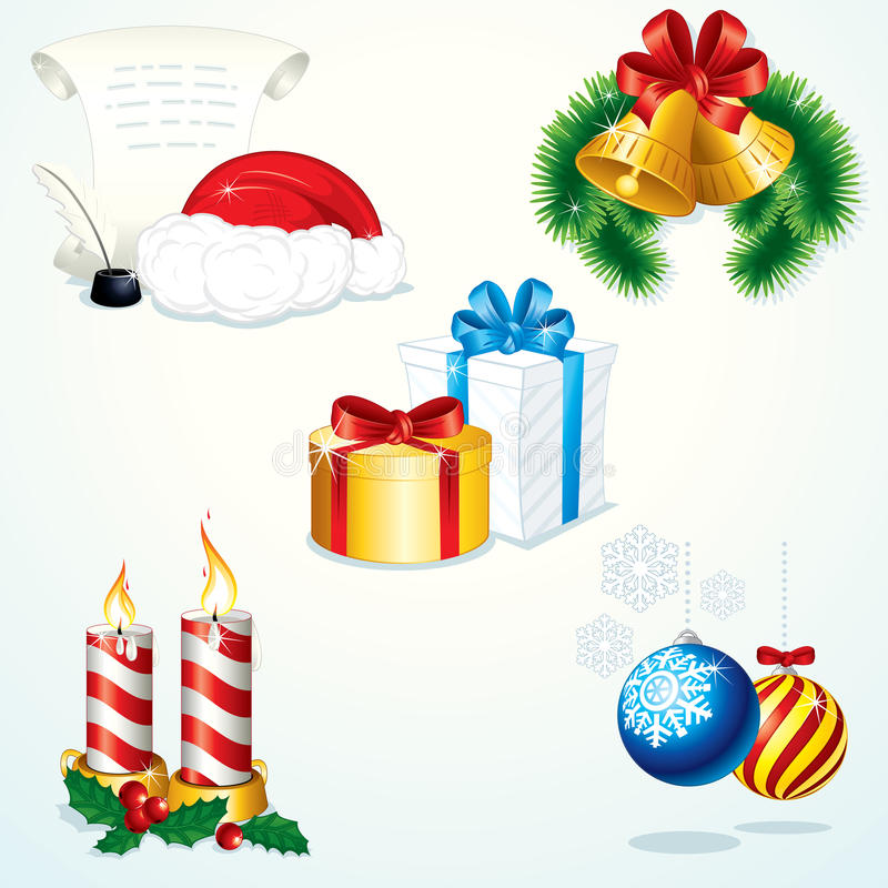 στοιχεία Χριστουγέννων στοκ εικόνες