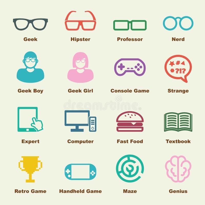 Στοιχεία Geek απεικόνιση αποθεμάτων
