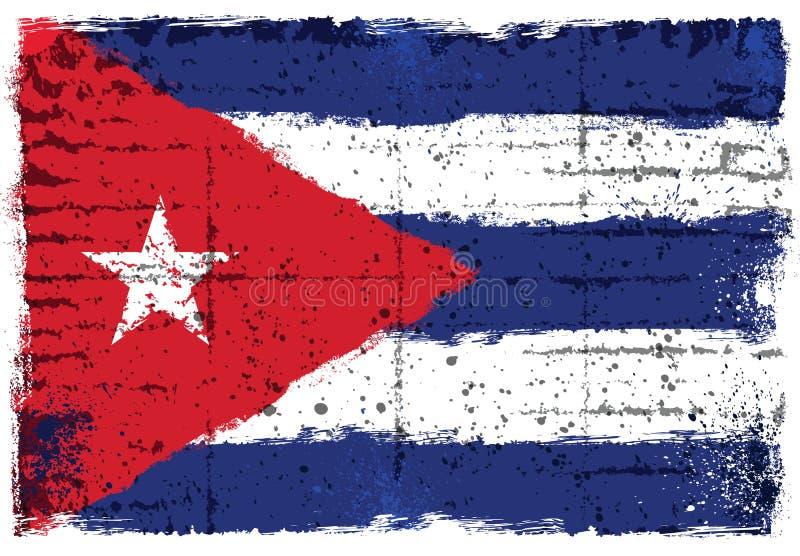 Στοιχεία Grunge με τη σημαία της Κούβας στοκ φωτογραφίες
