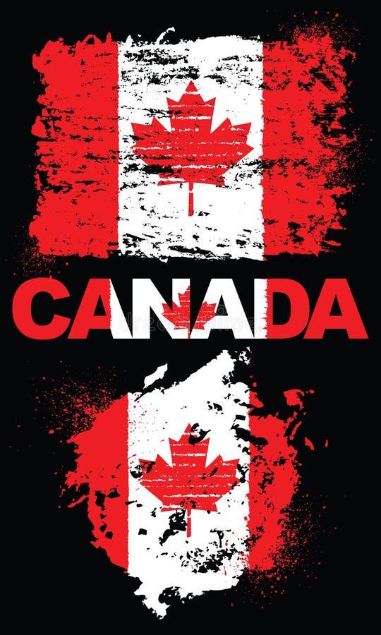 Στοιχεία Grunge με τη σημαία του Καναδά στοκ εικόνες