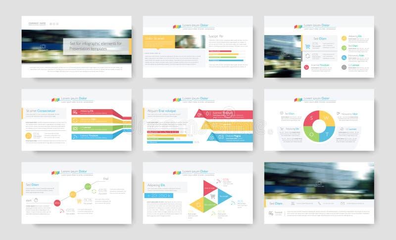 Στοιχεία Infographic για τα πρότυπα παρουσίασης απεικόνιση αποθεμάτων
