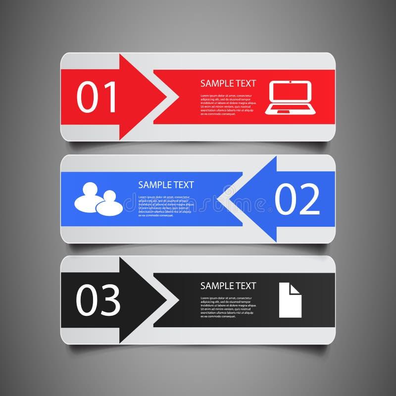 Στοιχεία Infographic - εμβλήματα διανυσματική απεικόνιση