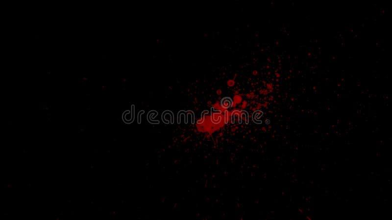 Στοιχείο αίματος Splattered στοκ φωτογραφία με δικαίωμα ελεύθερης χρήσης