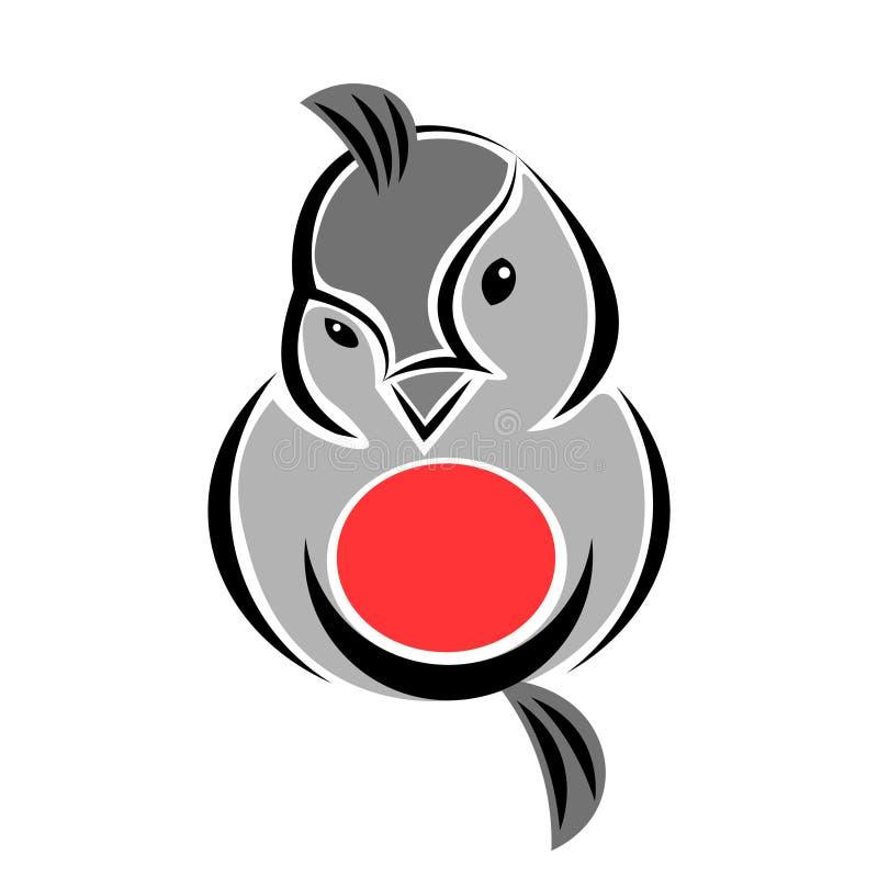 Στοιχείο λογότυπων πουλιών Bullfinch Flirty ελεύθερη απεικόνιση δικαιώματος