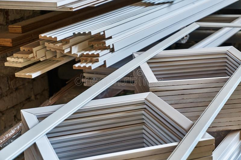 Στοιχείο πορτών Ξύλινη παραγωγή λεπτομερειών στοκ εικόνα με δικαίωμα ελεύθερης χρήσης