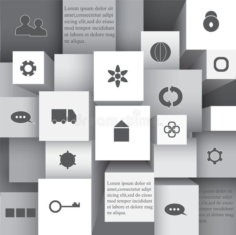 Στοιχείο πληροφορία-γραφικό με το επίπεδο εικονίδιο απόθεμα σχεδίου Ιστού διανυσματική απεικόνιση