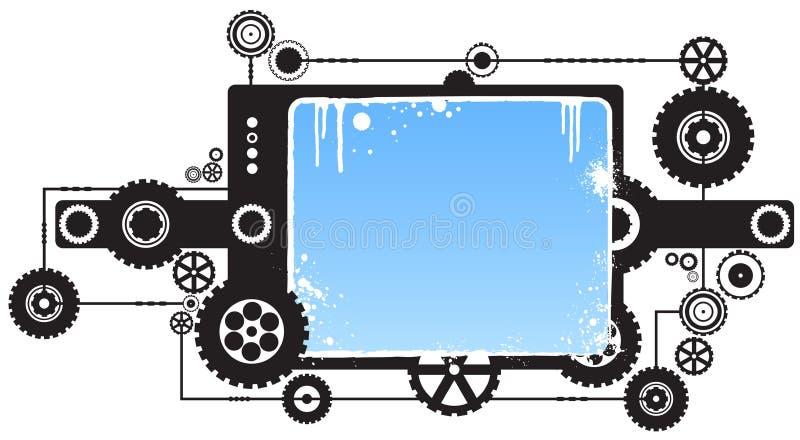 στοιχείο σχεδίου βαραίνω μηχανισμού σύγχρονο απεικόνιση αποθεμάτων