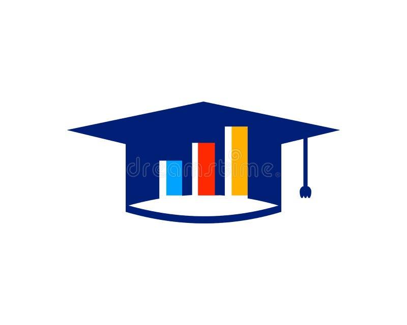 Στοιχείο σχεδίου λογότυπων εκπαίδευσης Stats διανυσματική απεικόνιση