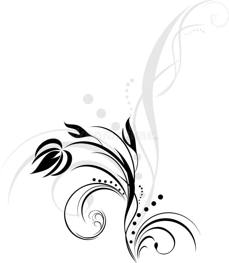 στοιχείο σχεδίου floral ελεύθερη απεικόνιση δικαιώματος