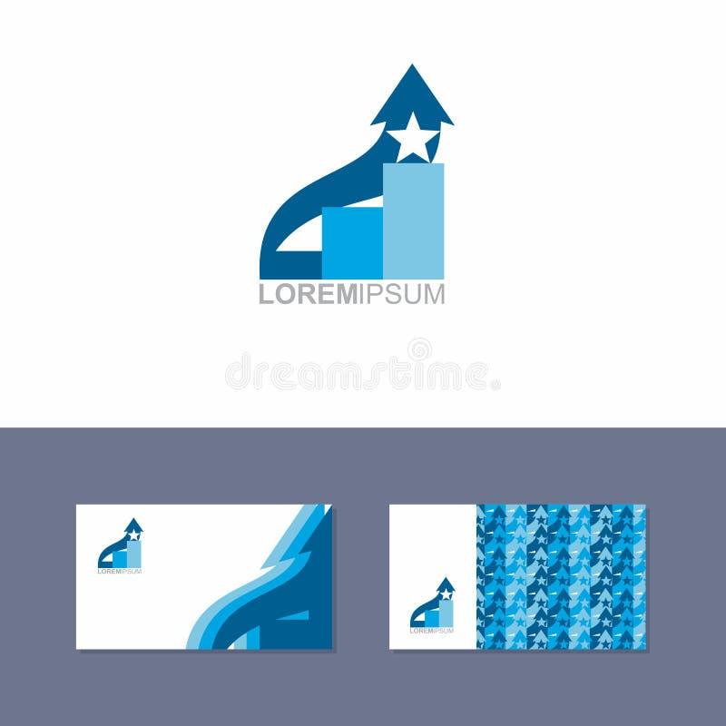 Στοιχείο σχεδίου εικονιδίων λογότυπων με το πρότυπο επαγγελματικών καρτών διανυσματική απεικόνιση