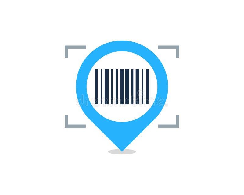 Στοιχείο σχεδίου λογότυπων εικονιδίων γραμμωτών κωδίκων θέσης καρφιτσών στοκ εικόνες με δικαίωμα ελεύθερης χρήσης