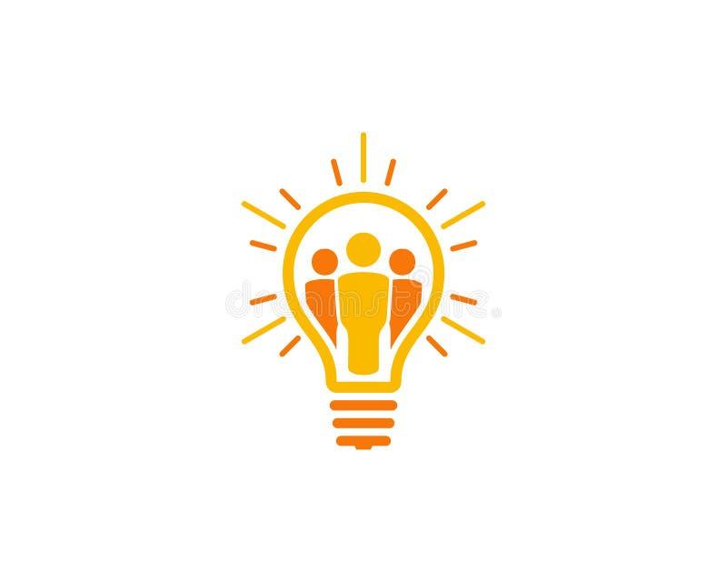 Στοιχείο σχεδίου λογότυπων εικονιδίων ιδέας ανθρώπων ελεύθερη απεικόνιση δικαιώματος