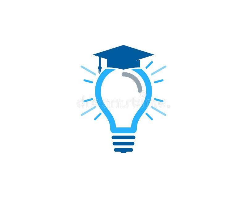 Στοιχείο σχεδίου λογότυπων εικονιδίων ιδέας εκπαίδευσης διανυσματική απεικόνιση