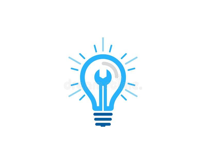 Στοιχείο σχεδίου λογότυπων εικονιδίων ιδέας επισκευής απεικόνιση αποθεμάτων