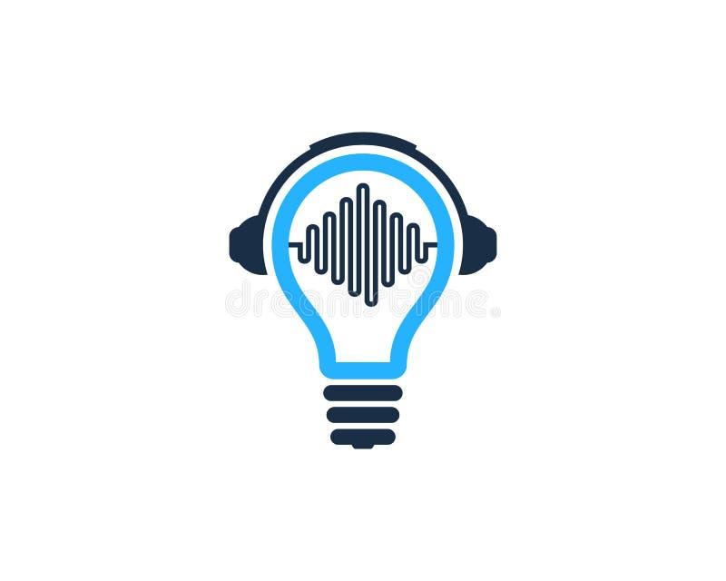 Στοιχείο σχεδίου λογότυπων εικονιδίων ιδέας μουσικής απεικόνιση αποθεμάτων
