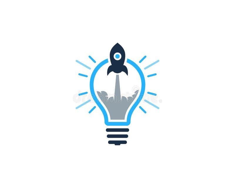 Στοιχείο σχεδίου λογότυπων εικονιδίων ιδέας πυραύλων ελεύθερη απεικόνιση δικαιώματος