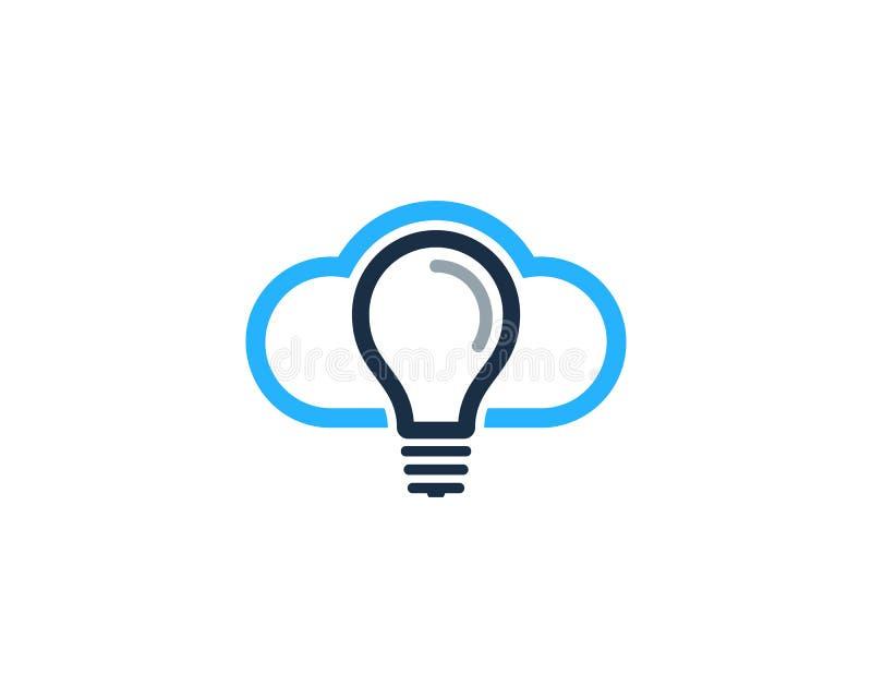 Στοιχείο σχεδίου λογότυπων εικονιδίων ιδέας σύννεφων ελεύθερη απεικόνιση δικαιώματος