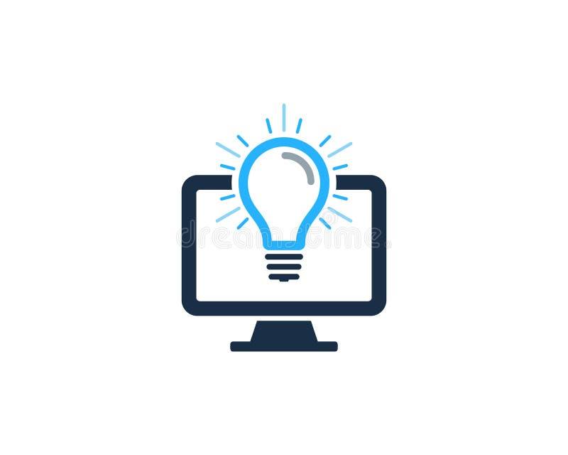 Στοιχείο σχεδίου λογότυπων εικονιδίων ιδέας PC υπολογιστών ελεύθερη απεικόνιση δικαιώματος