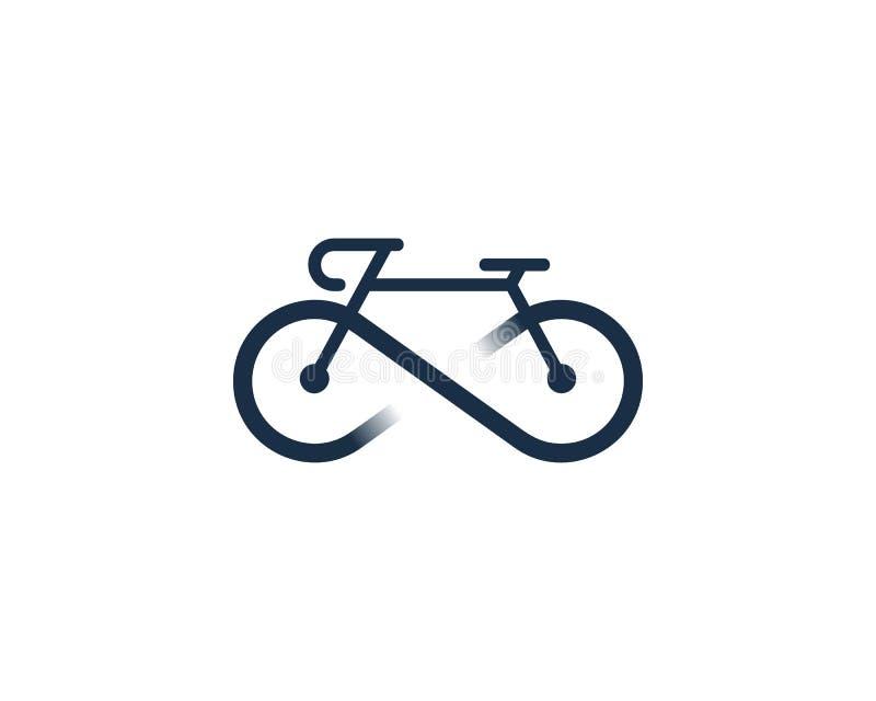 Στοιχείο σχεδίου λογότυπων εικονιδίων κύκλων ποδηλάτων απείρου στοκ εικόνα