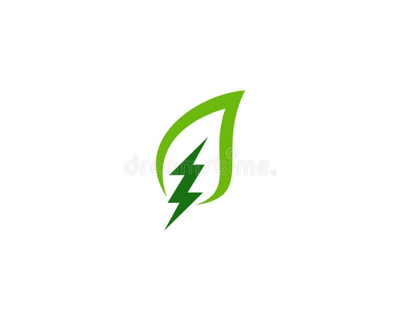Στοιχείο σχεδίου λογότυπων ενεργειακών εικονιδίων δύναμης Eco φύσης απεικόνιση αποθεμάτων