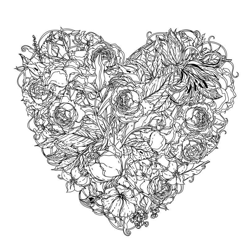 Στοιχείο σχεδίων χεριών zentangle μαύρο λευκό Λουλούδι Mandala ελεύθερη απεικόνιση δικαιώματος