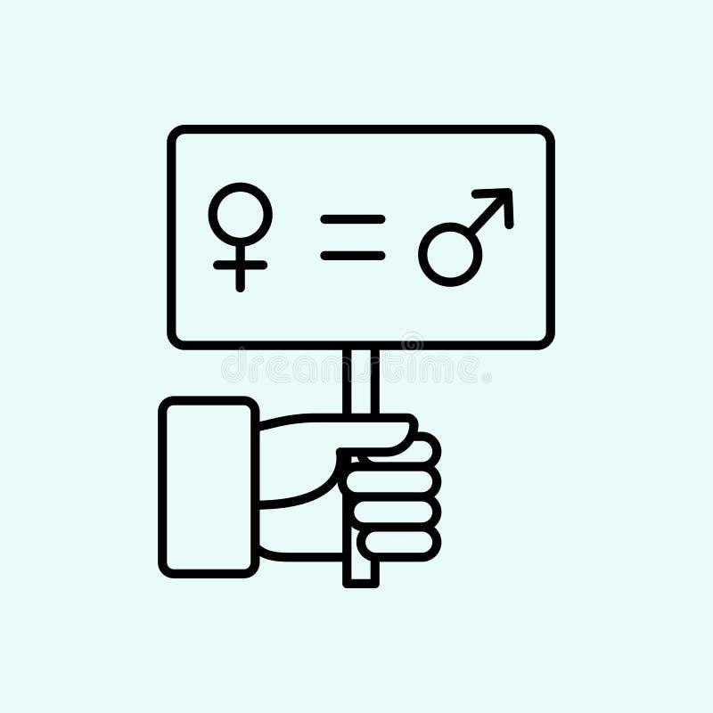 διαμαρτυρία, χέρια, εικονίδιο γυναικών Στοιχείο του φεμινισμού για το κινητό εικονίδιο έννοιας και Ιστού apps r διανυσματική απεικόνιση
