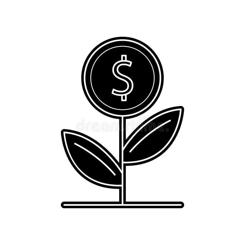 εικονίδιο εγκαταστάσεων χρημάτων Στοιχείο των τραπεζικών εργασιών για το κινητό εικονίδιο έννοιας και Ιστού apps Glyph, επίπεδο ε απεικόνιση αποθεμάτων