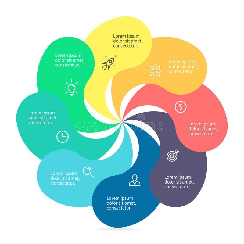 Στοιχείο Infographic με τα στριμμένα πέταλα ελεύθερη απεικόνιση δικαιώματος