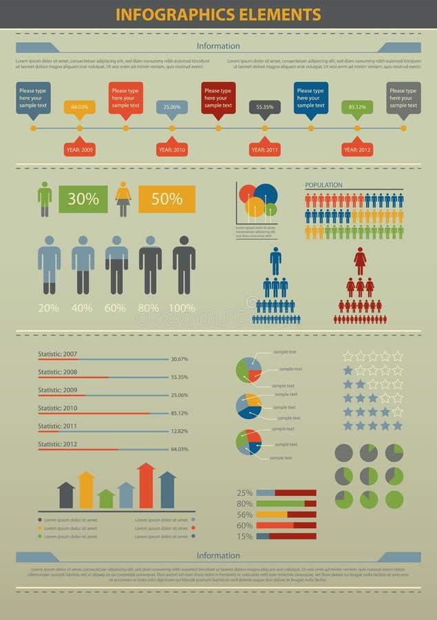 Στοιχείο Infographic. Πληθυσμός. ελεύθερη απεικόνιση δικαιώματος