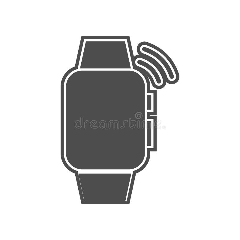 έξυπνο εικονίδιο μηνυμάτων ρολογιών Στοιχείο minimalistic για το κινητό εικονίδιο έννοιας και Ιστού apps Glyph, επίπεδο εικονίδιο διανυσματική απεικόνιση
