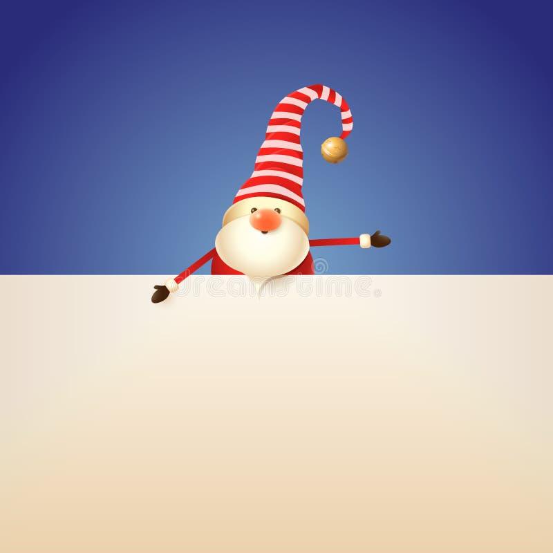 Στοιχειό Χριστουγέννων με την πινακίδα στο μπλε υπόβαθρο διανυσματική απεικόνιση