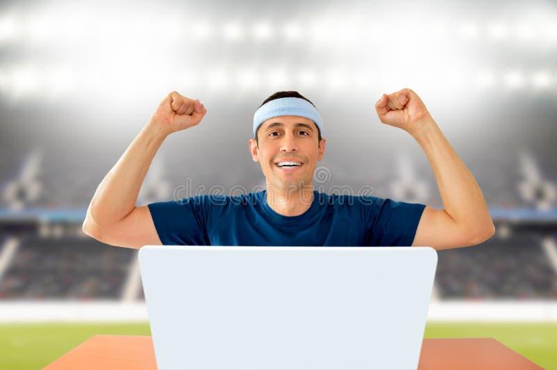 Στοιχημάτιση στον αθλητισμό στοκ εικόνα