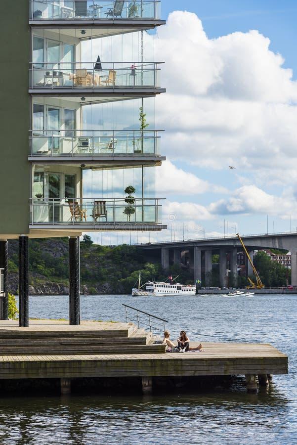 Στοκχόλμη από το νερό: Lilla Essingen στοκ εικόνα με δικαίωμα ελεύθερης χρήσης
