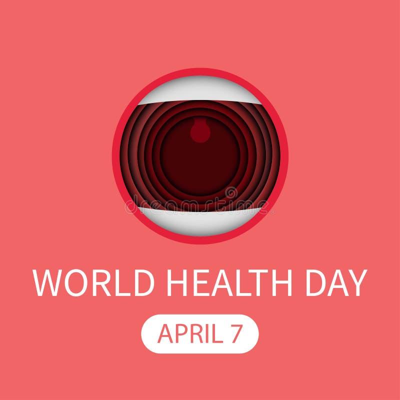 στοματική ευχετήρια κάρτα Απρίλιος παγκόσμιας healt ημέρας ελεύθερη απεικόνιση δικαιώματος