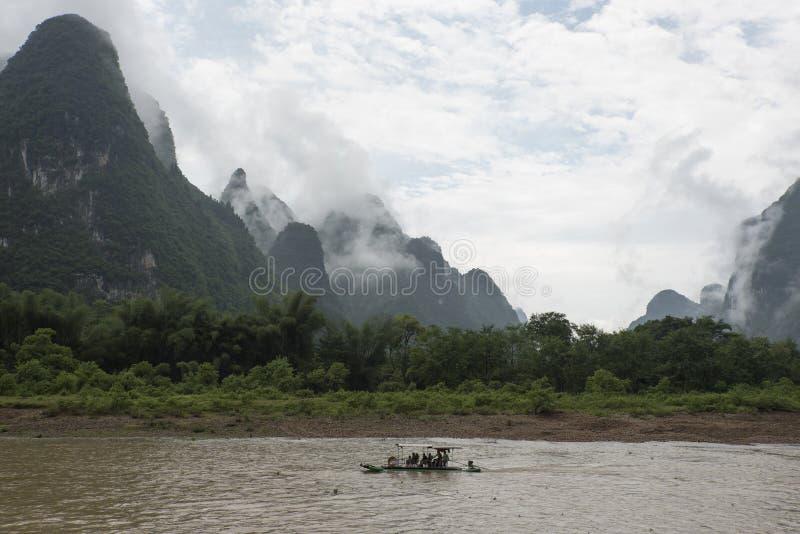 Στον ποταμό λι, Guilin στοκ φωτογραφίες με δικαίωμα ελεύθερης χρήσης