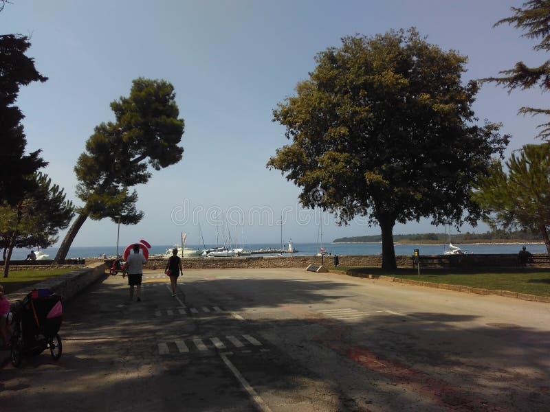 Στον τρόπο να δει η ομορφιά της φύσης και της θάλασσας στοκ εικόνα